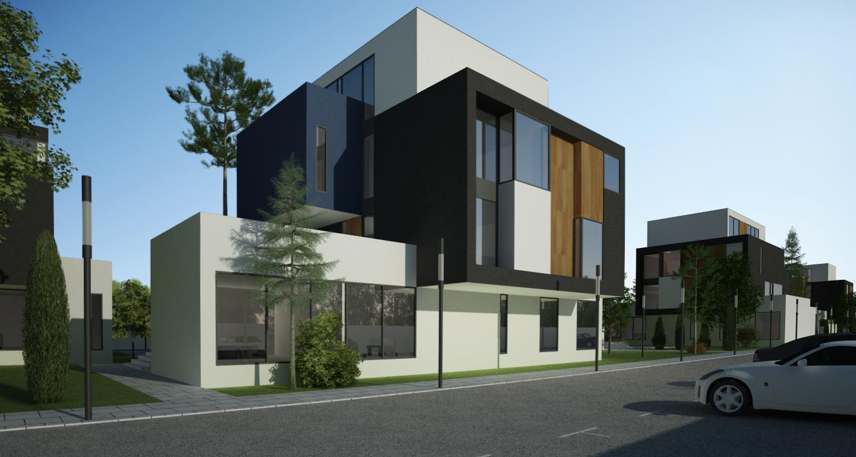 Ansamblu rezidential  cu 11 blocuri si zona verde in Blaj, jud. Alba | Concept Design ansamblu de blocuri de locuinte moderne cu apartamente si spatiu verde cu loc de joaca cod MRBA in Blaj | Proiect din portofoliul CUB Architecture